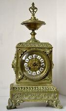 Ancienne pendule borne Japy Frères en Bronze / Horloge Napoleon 3 / Old Clock