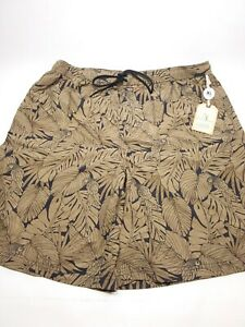 Roundtree & Yorke men's swimsuit Caribbean XL NEW Black and Tan