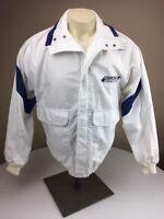 Vintage 80s K-Products STARCRAFT White/Navy Windbreaker Sailing Zip Jacket USA S