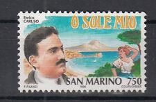 1996 SAN MARINO l. 750 STORIA CANZONE ITALIANA PER CARUSO O SOLE MIO  MNH **