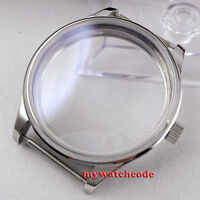 44mm PARNIS watch sterile CASE fit eta 6498 6497 hand winding eat movement C29