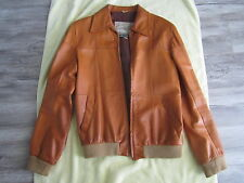 Vintage MEN'S Robert Comstock Leather Jacket Made in Uruguay Size 40 US SOFT!!