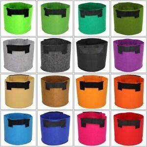 Garden Grow Plant Bags Container Fabric Pot Planter Bag Aeration Flowers Plant