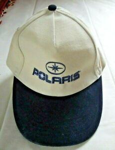 Vintage Polaris Cable Embroided Logo White Baseball Cap Adjustable Rare New Rare