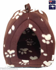 Soft Snuggle Pet Bed Igloo Cave Kitten Puppy House Portable Cat Dog Hut Indoor