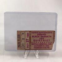 Black Sabbath Quiet Riot Buffalo New York Concert Ticket Stub Vtg Oct 27 1983