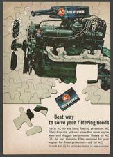 AC Oil - Air and Gasoline Filter 1963 Vintage Reader's Digest Print Ad