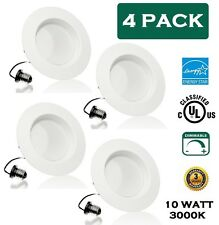 """LED Dimmable Downlight by Canopus 10 W 4"""" 3000K(Daylight White) UL-Listed 4 PACK"""
