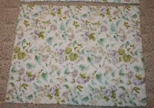 2 Laura Ashley Floral Quilted Shams Pastel Roses Purple Dots Green Leaves Cotton