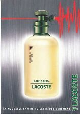 CARTE PARFUMEE LACOSTE-  PERFUME CARD ADVISING