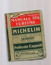 manuale del turismo michelin - touring club italiano - prima edizione 1934