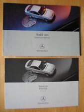 MERCEDES Model Cars 2002 UK Market sales brochure + matching price list