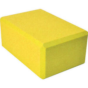 "3"" Foam Yoga Block Fitness Stretching Brick Soft Durable Exercise Tool Yellow"
