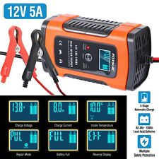 Car Battery Charger Maintainer Auto 12V 5ATrickle RV for Truck Motorcycle ATV US