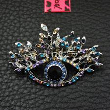 New Blue Bling Rhinestone Eyes Betsey Johnson Charm Brooch Pin Gifts
