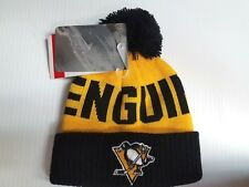TODDLER Pittsburgh Penguins Knit Hat Team Apparel Pom Cuff Stocking Cap NHL