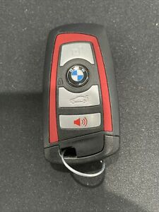 OEM BMW 9312533-04 434 MHZ SMART KEY REMOTE FOB 4 BUTTON YG0HUF5767 RED TRIM