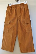 ** New In Bag ** Kelly's Kids Golden Brown Corduroy Aiden Cargo Pants Sz 5 Year