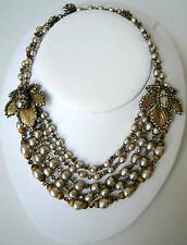 "Vintage RARE COLLECTABLE ""Edwardian Revival"" l Necklace, Miriam Haskell"