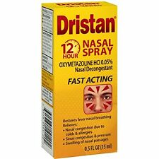 2 Pack Dristan Nasal Spray 12 Hour Nasal Decongestant 0.5 Oz Each