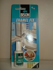 Bison Enamel Fix Repair Kit White Touch Up Paint Fixchip On Bath Sink 20ml