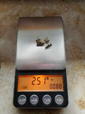 585 Ohrstecker mit weißen Steinen / Höhe ca. 10 mm und Breite ca. 7 mm