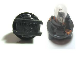 Lot of 3 Toshiba V-2 Black T5 Socket TSD 74 bulb Lamp Genuine OEM replacement