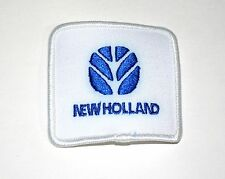 2 Vintage New Holland Combine Farm Equipment Tractor White Hat Patch NOS 1980s