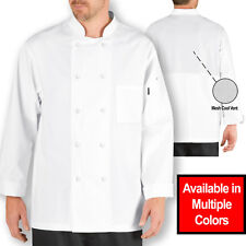 Chef Code Lightweight Cool Breeze Chef Coat Long Sleeve Amp Mesh Vent Inlay Cc104