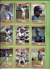 Ryne Sandberg 1991 Star Chicago Cubs Millennium 9-card Baseball Set #//1000