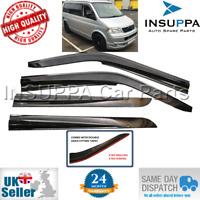 WIND RAIN SUN SMOKE GUARD DEFLECTORS 4pcs SET FOR VW TRANSPORTER T5 SPORT 03-16