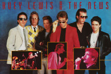 POSTER : MUSIC : HUEY LEWIS & THE NEWS - GROUP - FREE SHIPPING !  #8081 RW15 M
