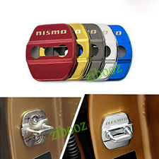 4X Stainless Steel Car Door Lock Case Cover Protective Stickers For nismo 370z
