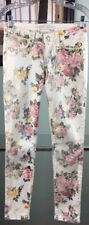 NEW Women Robin's Jean Authentic Marilyn Skinny Floral Pants Size 27 USA
