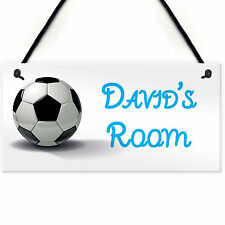 Football Personalised Door Name Plaque Boys Bedroom Room Sign Top Quality & Fast