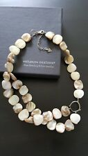 Silpada N1825 Ivory Mother-of-Pearl & Sterling Chunky Necklace RETIRED
