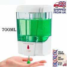 700ML Dispensador de Jabón Automático desinfectante de manos libres Sensor Infrarrojo Touchless Blanco