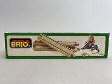 Vintage BRIO No: 33341 Wooden Railway Straight Tracks Near Mint Complete