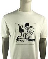 Trojan Records Tee - Trojan Records Men's TR8521 Moonstomp Crew T Shirt Ecru