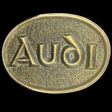 Vintage 1970s NOS Audi German Motor Company Luxury Car Brass Belt Buckle