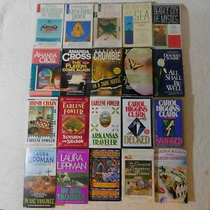 Mixed Lot of 20 Mystery pb books EARLENE FOWLER Deborah Crombie LAURA LIPPMAN