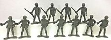 "Vintage Plastic Green Army Men Military 11 Soldiers 2.75"" Figure Lot Hong Kong"