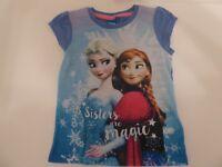 Disney Shirt Frozen, Eiskönigin, Elsa und Anna 4 Jahre Gr. 104