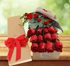 Fresh Flowers Delivery Sydney-  Exotic Rose Gift Box- 12 Long Stem - Valentine's