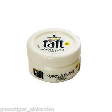 (46,53€/L) 75ml Schwarzkopf Taft Kokos & Glanz Wax Kokosduft Haare Styling