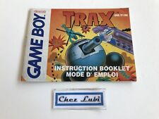 Notice - Trax - Nintendo Game Boy - PAL FAH