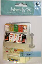 Slot Machine Gambling Casino Lucky 7's Las Vegas  RARE Jolee's 3D Stickers