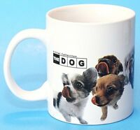 Sherwood Artist Collection The Dog Ceramic Cup Mug White Canine Dogs Puppy EUC
