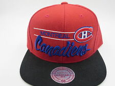 Montreal Canadiens Wool Mitchell & Ness NHL Throwback Retro Snapback Hat Cap