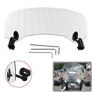 Motorcycle Adjustable Clip On Windshield Wind Screen For BMW R1200GS Adventure